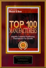 2013 Window and & Magazine's Top 100 Manufacturers Award