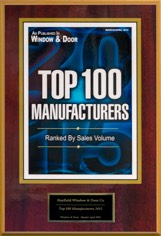 2016 Window and & Magazine's Top 100 Manufacturers Award