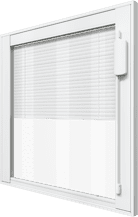 Window with blinds on the inside