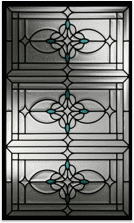 Docorative stain glass in beautiful ornate pattern
